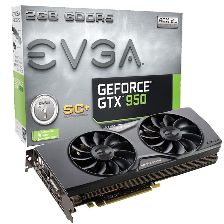 EVGA GeForce GTX 950 SC+ (02G-P4-2956)