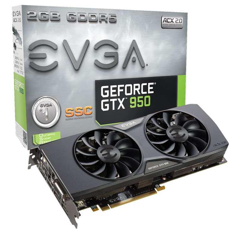 EVGA GeForce GTX 950 SSC (02G-P4-2957)