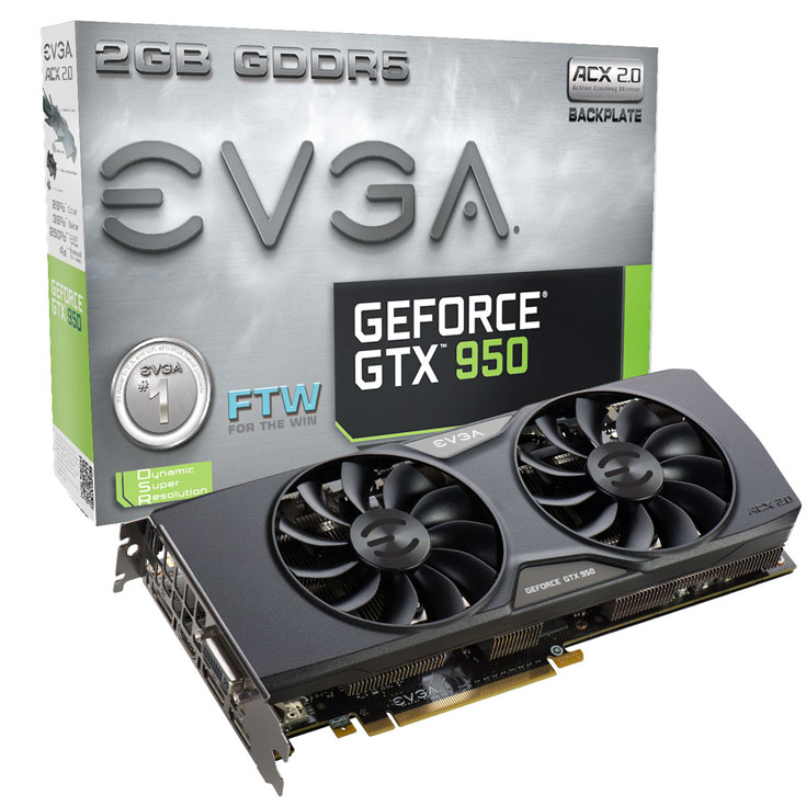 EVGA GeForce GTX 950 FTW (02G-P4-2958)