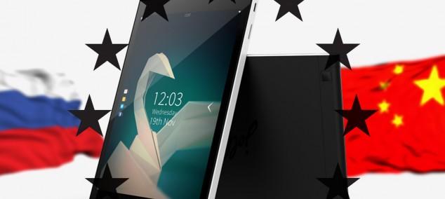 Планшет Jolla на Sailfish OS недоступный для заказа из России или Китая