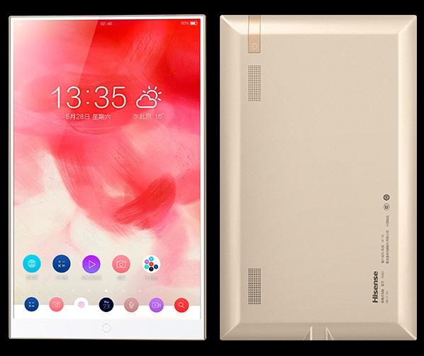 Экран занимает 90% площади фронтальной панели планшета Hisense Vidaa Mirror - 4
