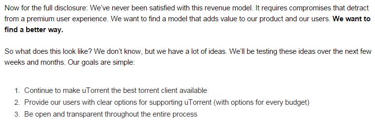 uTorrent ищет возможность получать деньги с пользователей - 2