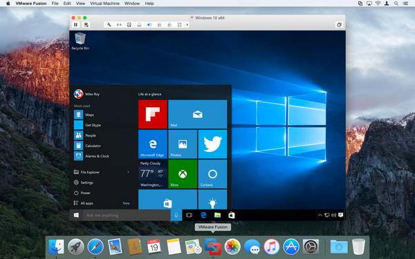 персональный помощник Cortana будет ждать голосовой команды, даже когда VMware Fusion 8 работает в фоновом режиме