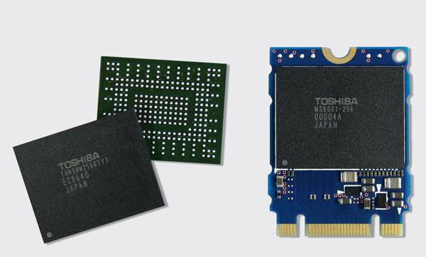 Специалисты Toshiba создали первый в мире SSD с интерфейсом PCIe, представляющий собой микросхему в корпусе BGA