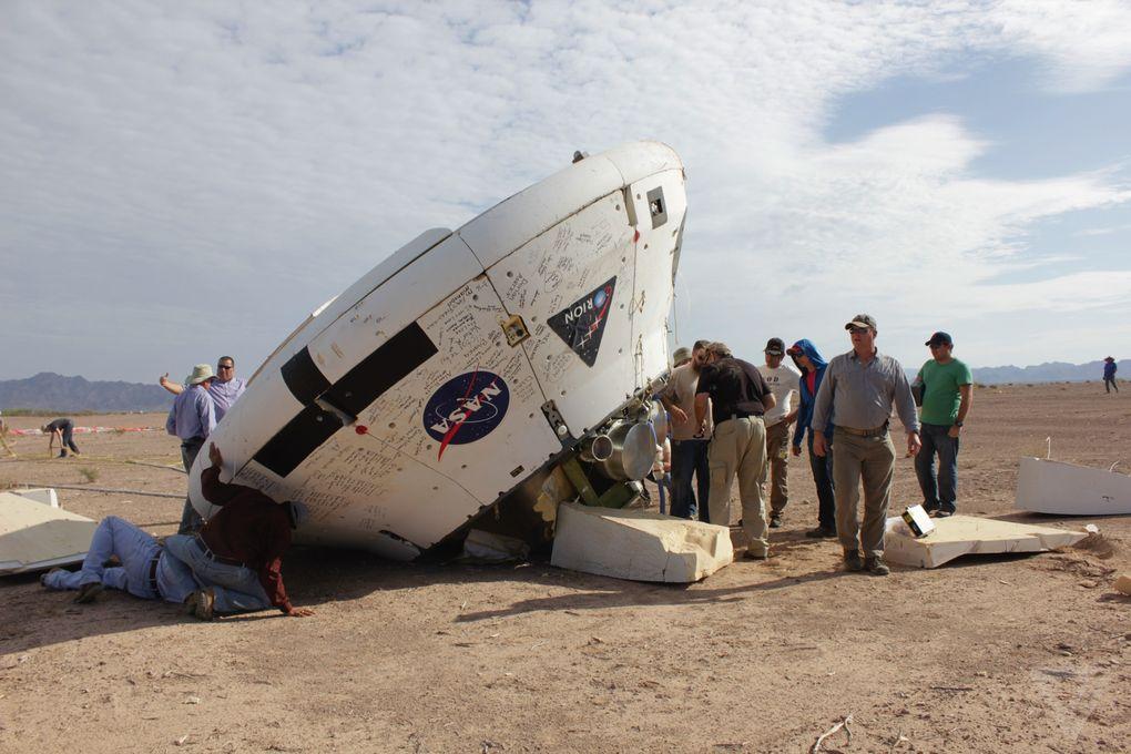 Космический корабль в пустыне: как прошло приземление капсулы Orion? - 8
