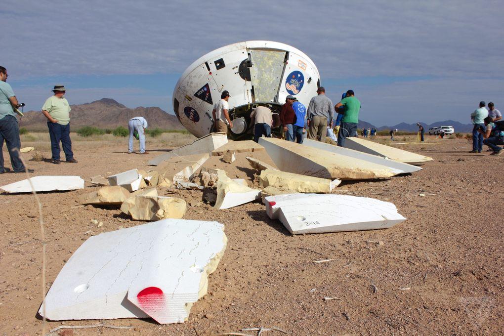 Космический корабль в пустыне: как прошло приземление капсулы Orion? - 9