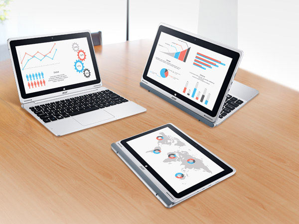 В режиме планшета Aspire Switch 10 похож на закрытый ноутбук