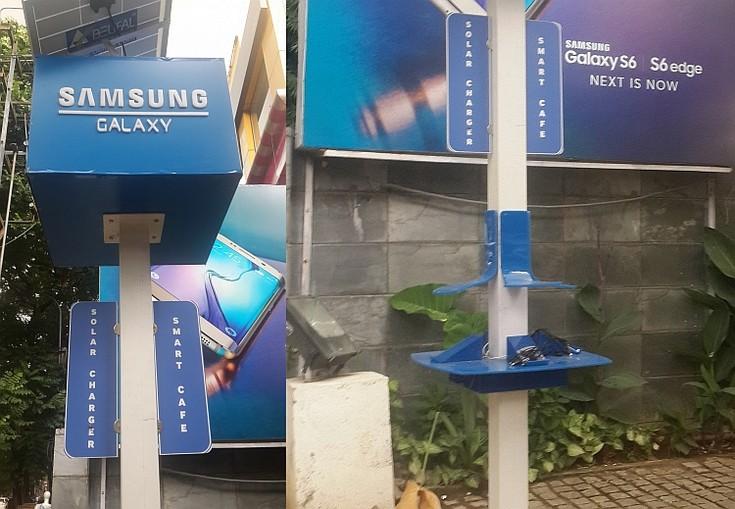 На улицах индийского города Бангалор появились солнечные зарядные станции Samsung