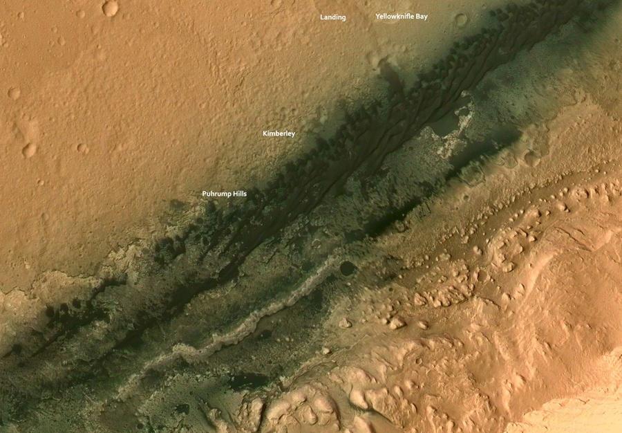 Curiosity — первые шаги по склону - 2