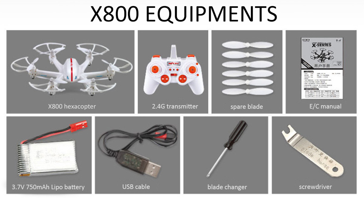 MJX X800 — гексакоптер с удивительными функциями за 29.99$ - 9