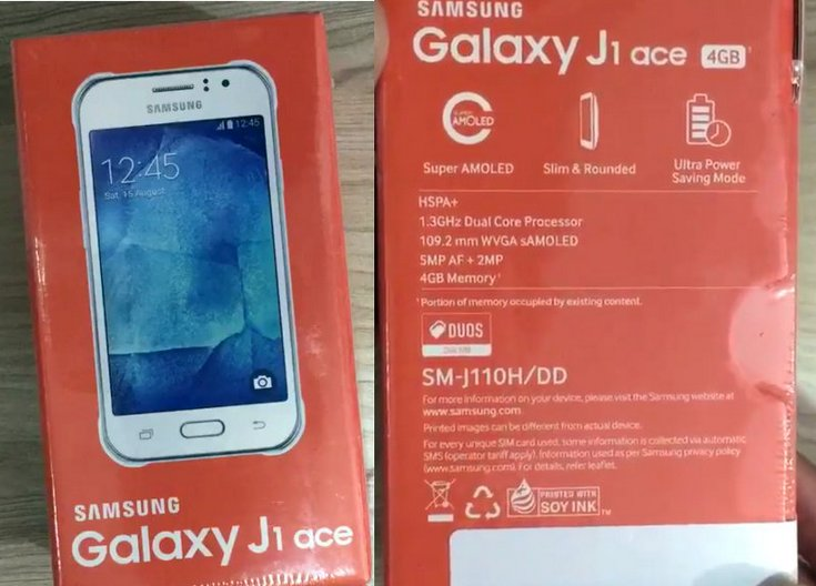 Смартфон Samsung Galaxy J1 Ace оснастили 512 МБ ОЗУ