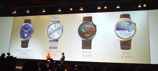 Четыре модификации часов различаются материалами