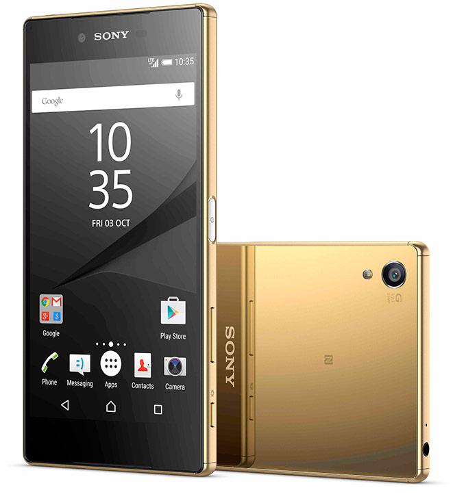 В кнопку включения Sony Xperia Z5 встроен сканер отпечатков пальцев