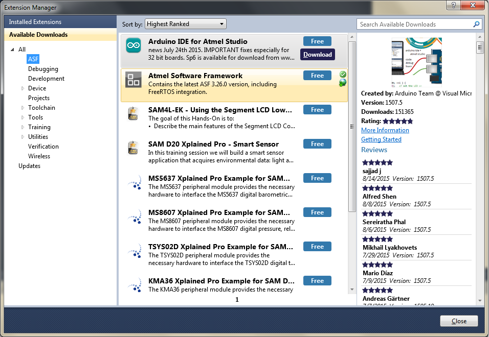 Atmel Software Framework (ASF): как это работает? - 3