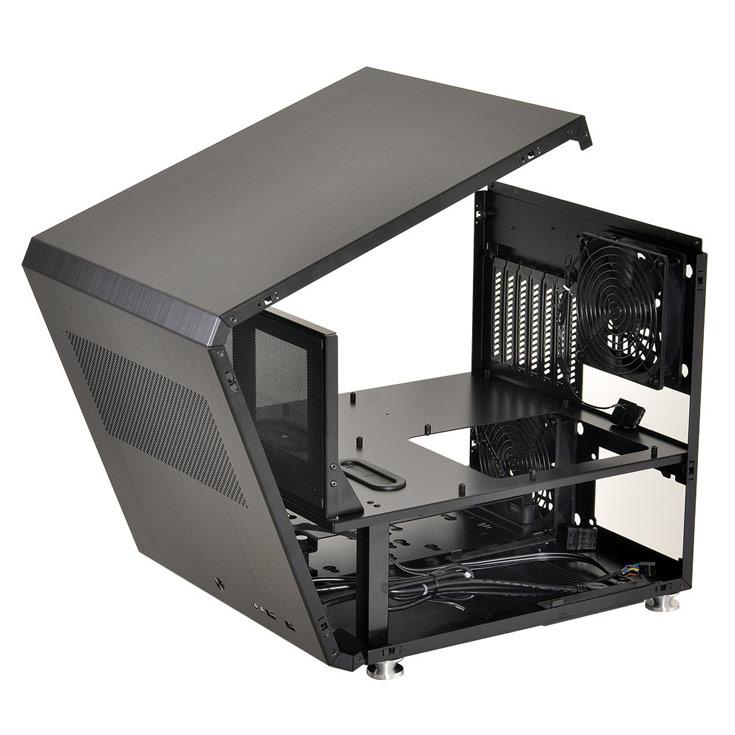 Похожий на куб алюминиевый корпус Lian Li PC-V33 рассчитан на платы типоразмера ATX