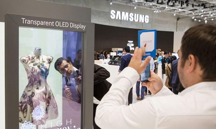 Компания Samsung показала на IFA 2015 прозрачный и зеркальный дисплеи OLED
