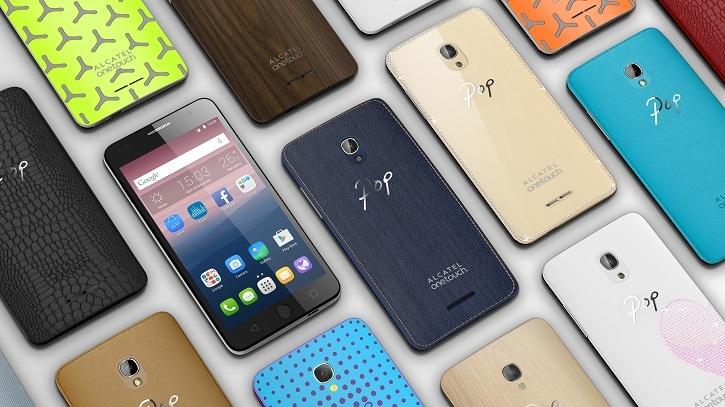 Смартфоны Alcatel Onetouch Pop Up и Pop Star получили множество вариантов оформления задней крышки