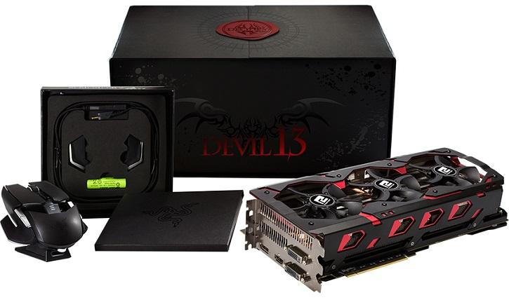 Карта PowerColor Devil 13 Dual Core R9 390 16GB GDDR5 оснащена двумя GPU и имеет мощную систему питания