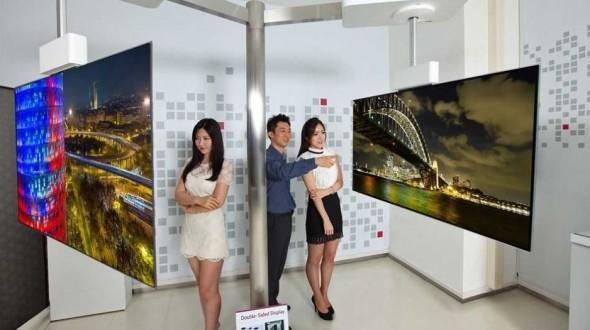 LG разработала двухсторонние панели OLED