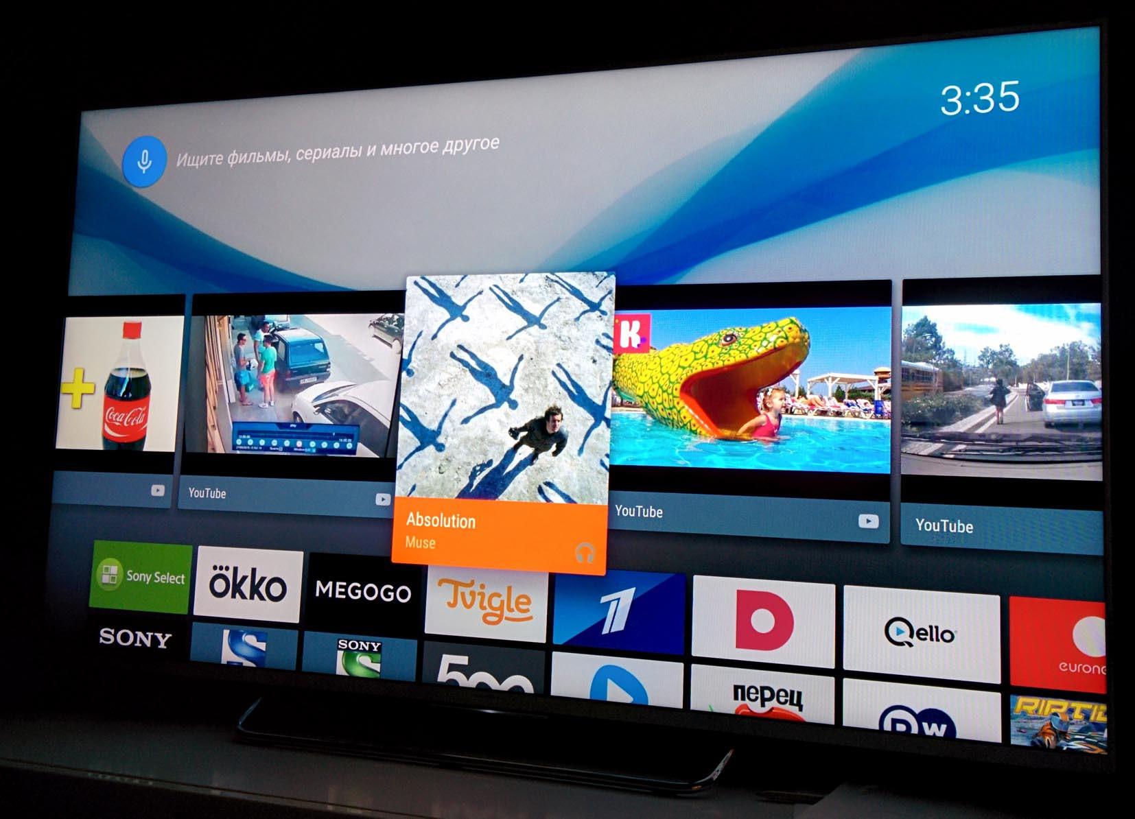Обзор true Android TV на примере Sony 55w807c - 8