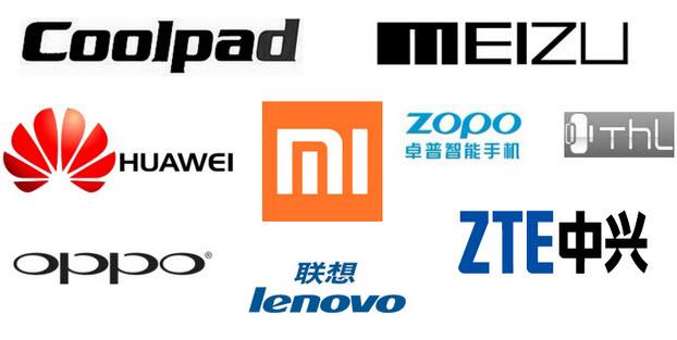 логотипы китайских производителей смартфонов и планшетов
