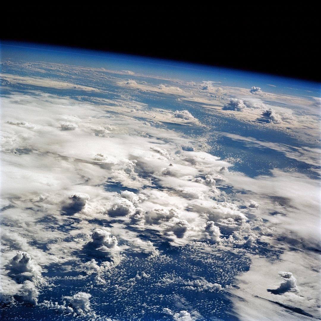 Вид на тихий океан Земли с Орбиты