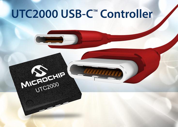 Контроллер Microchip UTC2000 позволяет производителям использовать USB-C в электронных устройствах
