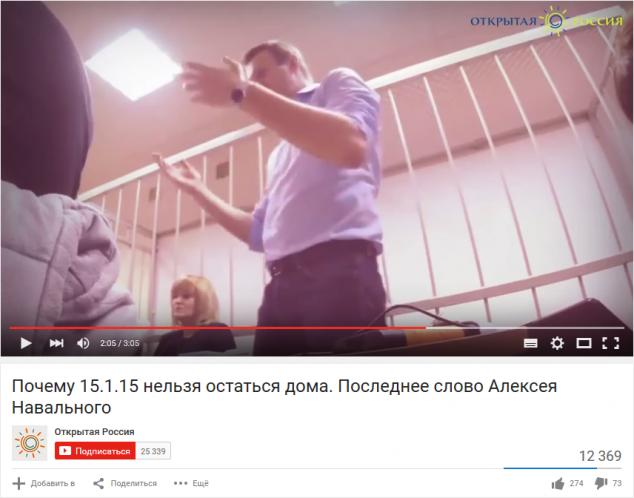 Навальный, последнее слово на суде