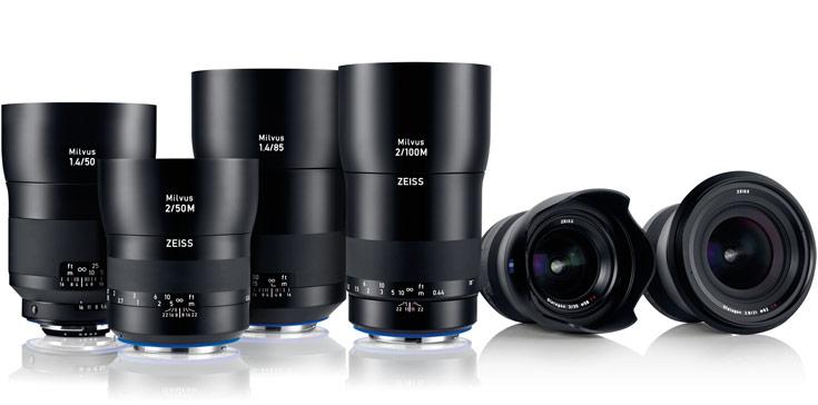Серия Zeiss Milvus объединяет шесть моделей объективов