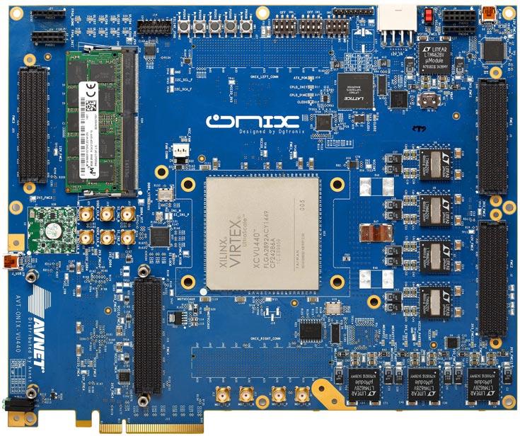 Набор для разработчиков Avnet ONIX-VU440 позволяет быстро создавать прототипы специализированных микросхем