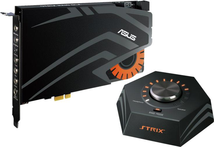 Звуковые карты Asus Strix Raid DLX, Strix Raid Pro и Strix Soar поддерживают 24-битное представление звука с частотой дискретизации 192 кГц