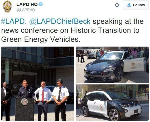 Лос-анджелеская полиция пересядет на электромобили Tesla и BMW - 2