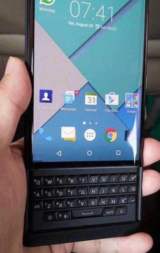 Появились новые снимки слайдера BlackBerry Venice - 1