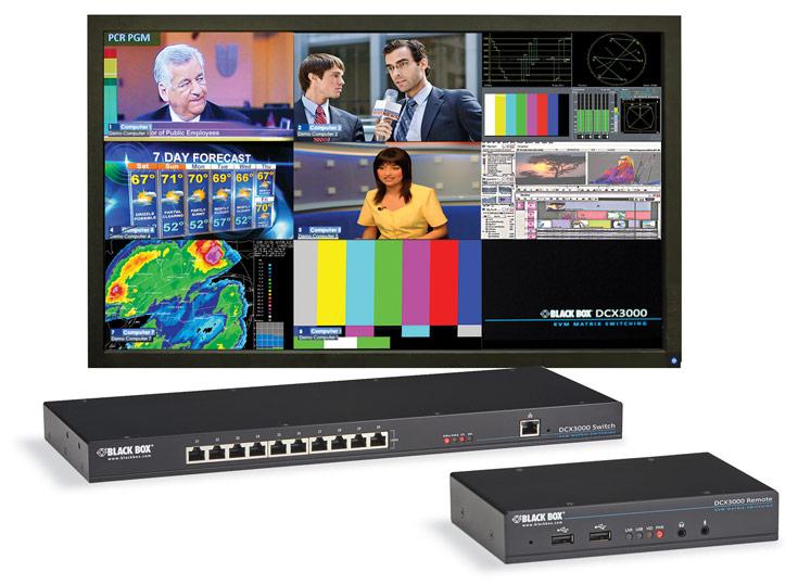 Совместно с DCX3000 используются приемные и серверные модули