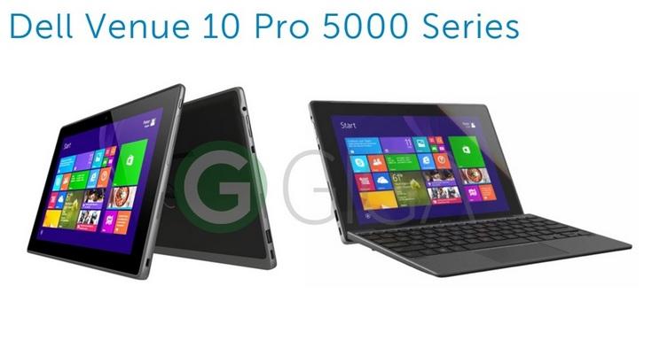 Планшет Dell Venue 10 Pro 5000 будет располагать 4 ГБ ОЗУ