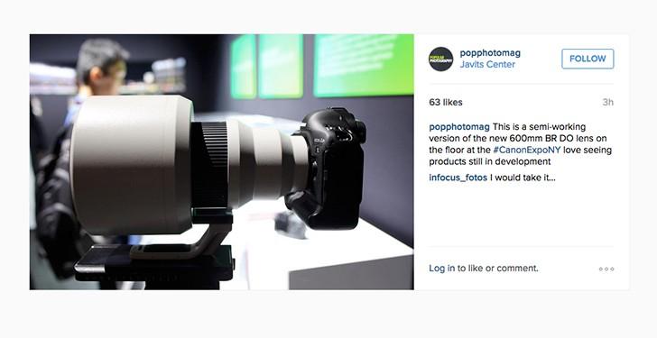 Готов прототип объектива Canon EF 600mm f/4 DO BR USM