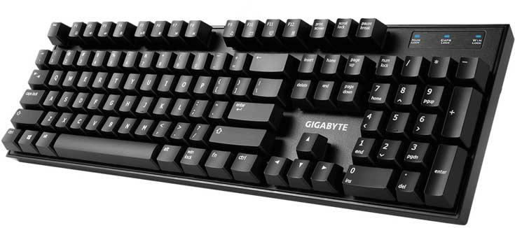 В механической клавиатуре Gigabyte Force K83 используются клавиши Cherry MX