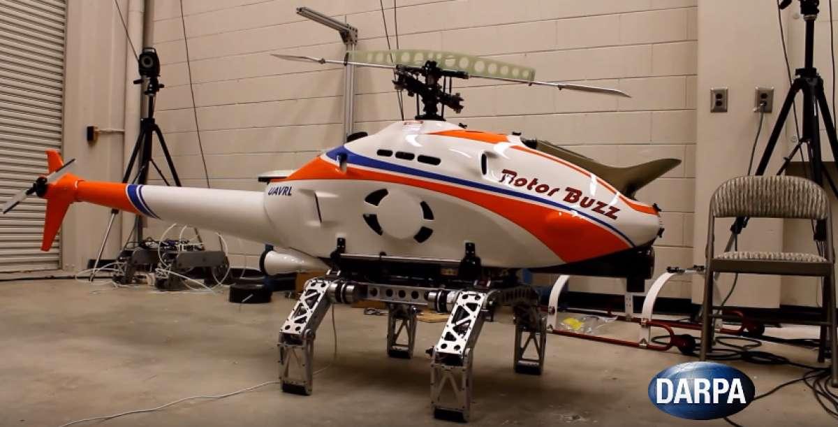 Специалисты DARPA представили вертолет с роботизированным шасси для посадки в самых сложных условиях - 1