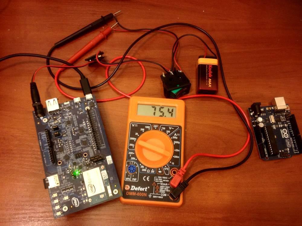 Измерение потребляемой мощности Intel Edison в разных режимах работы - 1