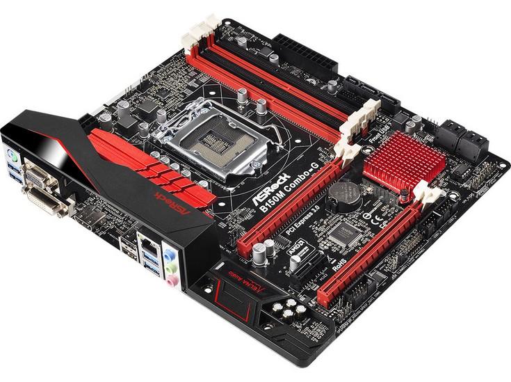 Системная плата ASRock B150M Combo-G3 не располагает портами PCI