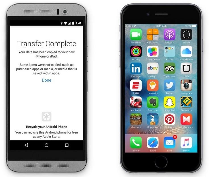 ПО Apple Move to iOS поможет владельцам смартфонов с Android мигрировать на iPhone