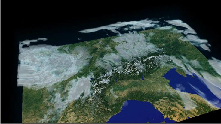 Новая система MeteoSwiss вдвое увеличивает разрешение моделей для ежедневных прогнозов погоды