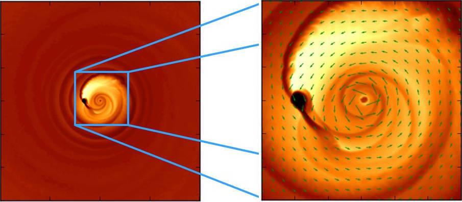 Объяснено возникновение странного светового сигнала в паре соединяющихся черных дыр - 1