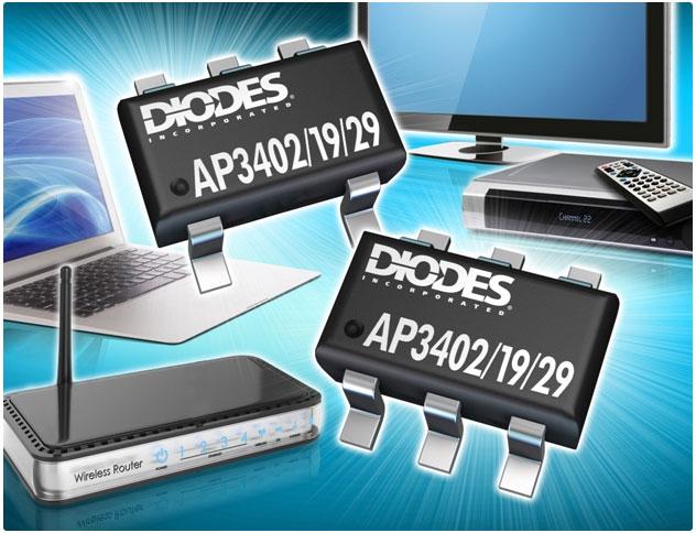 К достоинствам преобразователей Diodes AP3402, AP3419 и AP3429 относится низкий ток покоя