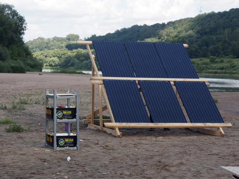 Солнечная энергия на плоту, или Как я провел лето - 3