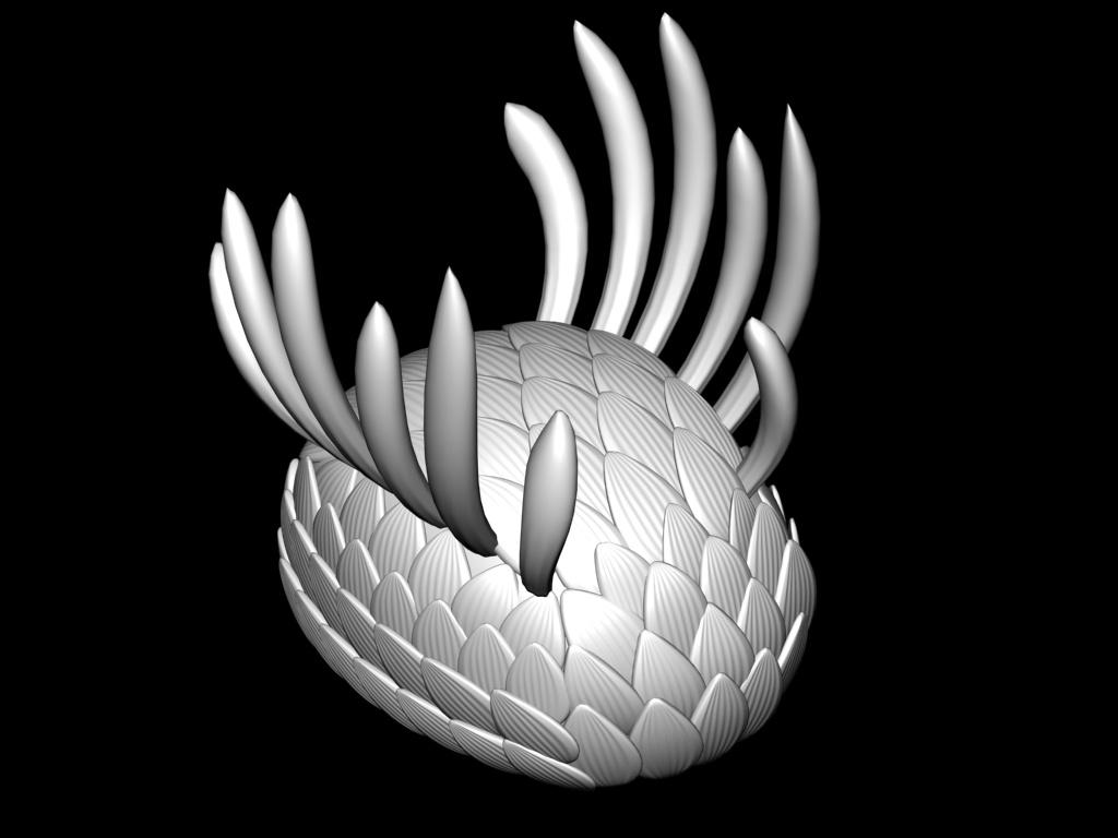 Реконструкция Wiwaxia sp., выполненная 3-D моделлером Е.Ю.Махневым.