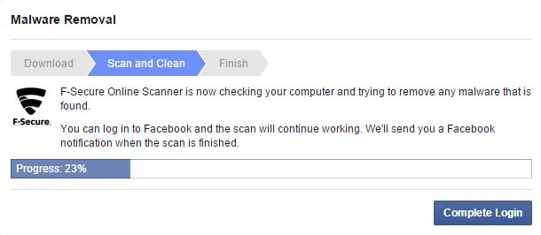 Скриншот экрана ВК FB