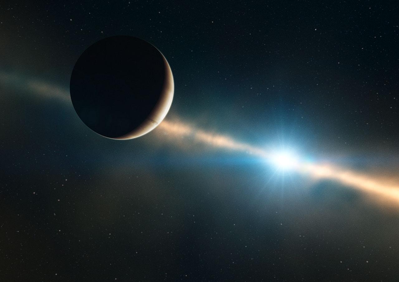 Анимационное видео вращения экзопланеты вокруг своего светила - 1