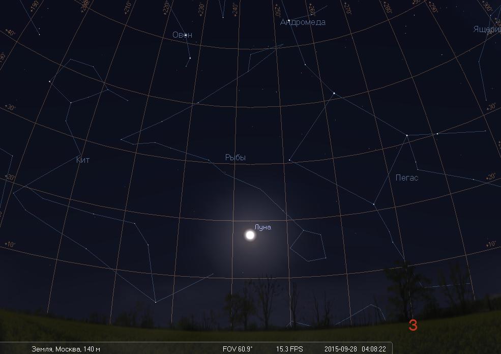 Полное лунное затмение ранним утром 28 сентября - 3