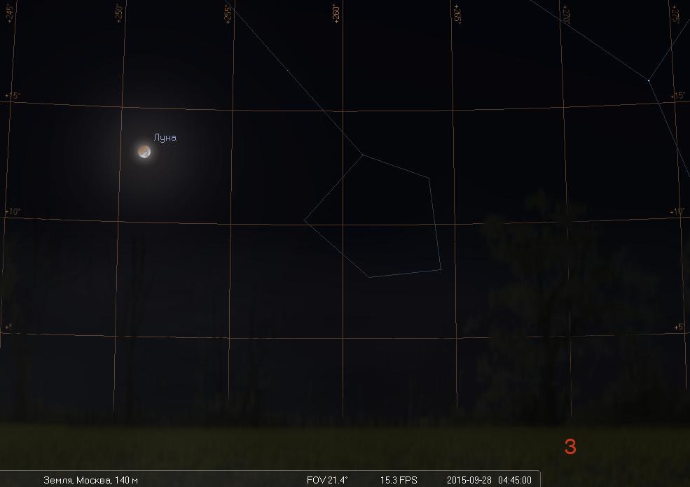 Полное лунное затмение ранним утром 28 сентября - 4
